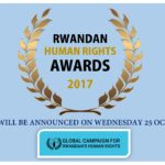 2017 Rwandan Human Rights Awards – Announcement 25 October 2017